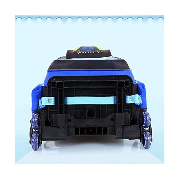 HZLQ Bambini Zaino Trolley - Auto 3D Stampati dei Ragazzi delle Ragazze del Sacchetto di Scuola - Zaino Zaino di… 4 spesavip