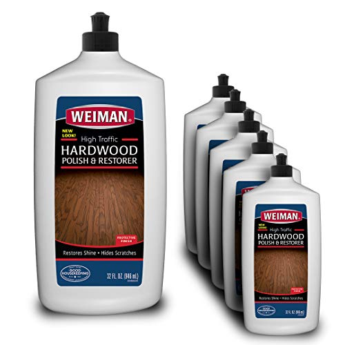 - Weiman Wood Floor Polish and Restorer (6 Pack) 32 Ounce - High-Traffic Hardwood Floor, Natural Shine, Removes Scratches, Leaves Protective Layer