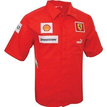 Puma SCUDERIA FERRARI TEAM SHIRT Rojo Hombre Camisa  Amazon.es  Deportes y  aire libre b9db260d42e57