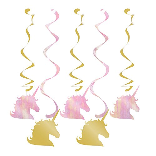 Creative Converting Unicorn Sparkle Hanging Swirls Party Supplies, Multicolor
