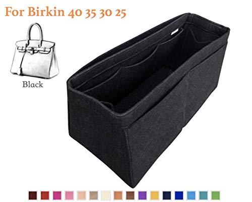 Customizable Birkin Organizer for Tapered Bag, Birkin Satchel Doctor Tote Felt Purse Insert, Cosmetic Makeup Diaper Handbag, Zipped Belongings