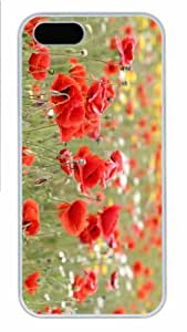 Hot iPhone 5S Customized Unique Print Design Poppies In Nature New Fashion PC White iPhone 5/5S Cases by lolosakes
