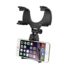 GXG-1987 Universal Car Rear View Mirror Mount Bracket Holder Cradle for Apple iPhone 6 / 6s / 6s plus/ 5s / 4s, Samsung Galaxy S6 / S6 edge / S5 / S4 / S3,Cellphones, IOS, Android Smartphone