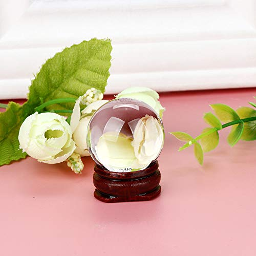 - Hot Sale!DEESEE(TM)30mm Natural Quartz Magic Crystal Ball Healing Ball Sphere And Stand (Clear)