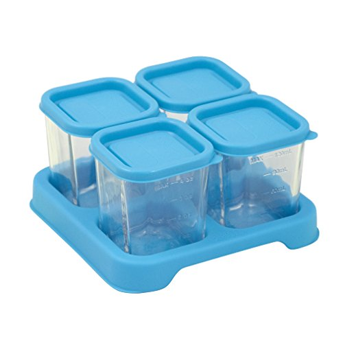 Green Sprouts Reusable Baby Food Glass Containers Freezer Cubes