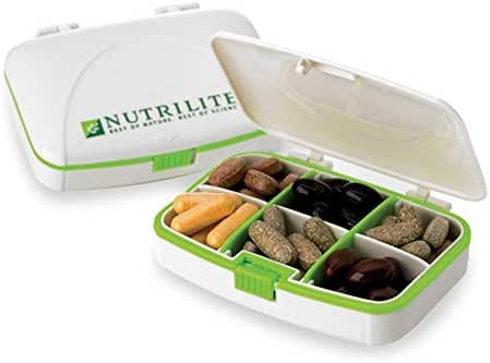 2 pcs of Pill Case Supplement Case Small Plastic Drug Case by Nutrilite
