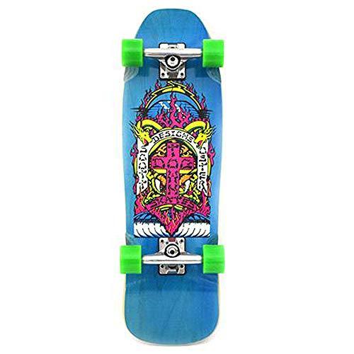 Dogtown Scott Oster Mini Cruiser Complete Skateboard Teal Stain - 8.75