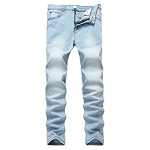 NITAGUT Men's Ripped Skinny Destroyed Slim fit Jeans Pants Holes