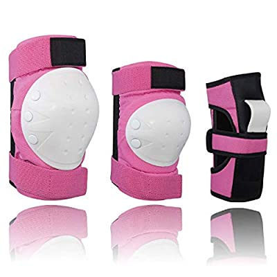 Legendfit Knee Pads Elbow Pads Wrist Guards Kids Adult 3 in 1 Protective Gear Set for Multi Sports Skateboard Skating Rollerblading Cycling Bike Scooter : Sports & Outdoors