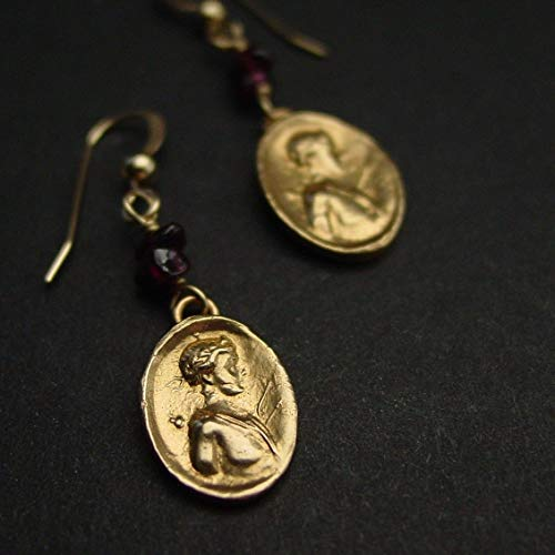 Adonis cameo earrings | God of Love | The Archer ()