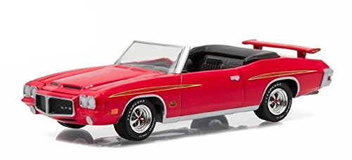 - 1971 Pontiac GTO Judge Convertible, Cardinal Red - Greenlight 13150/48 - 1/64 Scale Diecast Model Toy Car