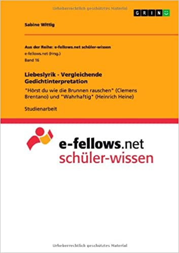 best price presenting competitive price Liebeslyrik - Vergleichende Gedichtinterpretation: