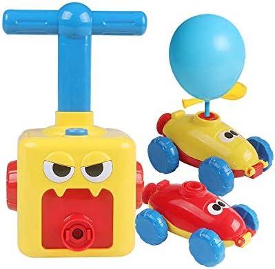 おもちゃの空力車、インフレータブルバルーンポンプハンドプッシュ-ミニプラスチックエアパワービークル、実験知能おもちゃ、男の子向け3+