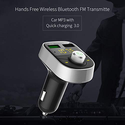 Titanicol Hands-Free QC3.0 Fast Charge MP3 Player car Charger Silver