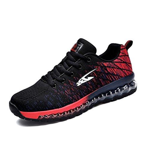 botas bajo y negro LFEU rojo Unisex de caño adulto wtdqgBd