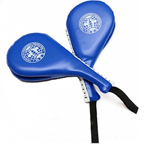 BreaDeep 2pcs Durable Taekwondo Karate Kickboxing TKD Kicking Pad Practice Kick Target Training - Blue