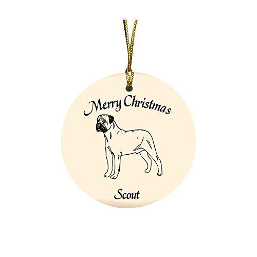 GiftsForYouNow Dog Breed Personalized Christmas Ornament, Bullmastiff