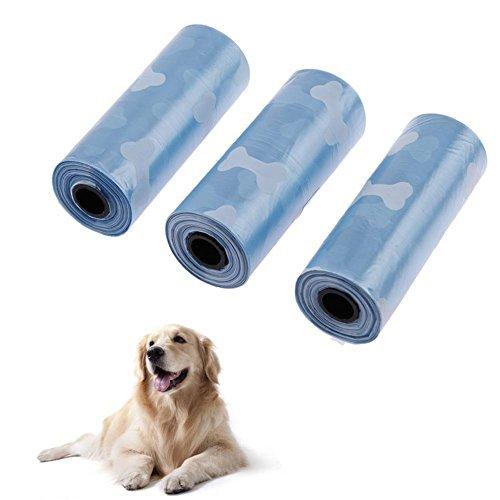 Broadroot, bolsa de basura para perro, 3 rollos, mezcla de residuos para mascotas