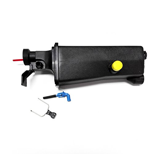 BMW Radiator Coolant Tank Overflow Expansion Bottle Reservoir +Sensor +Clip for E46 E53 E83 (New Radiator Overflow Bottle)