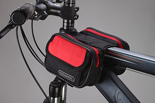 Docooler Cycling Bike Bicycle Front Top Tube Frame Pannier Double Bag Pouch 1.5L