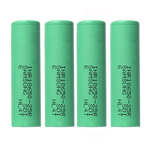 GUTTEAR 4PCS 3.7V 2500mAH Li-ion Rechargeable 18650 Battery for Flashlight - 1 Ion Battery Lithium Np