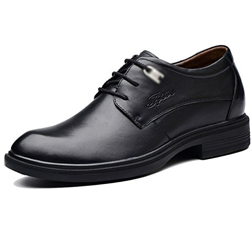 LYZGF Männer Vier Jahreszeiten Geschäft Lässig Mode England Outdoor Spitze Lederschuhe Black