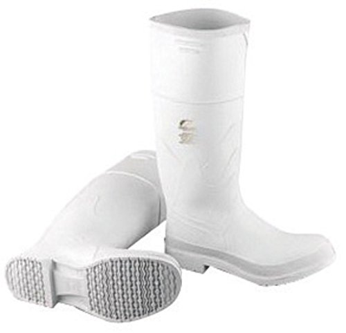 Bata Shoe 81012-13 Onguard Industries Size 13 White 16'' PVC Knee Boots With Safety-Loc Outsole, Steel Toe And Removable Insole