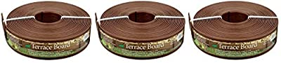 Master Mark Plastics 93340 Terrace Board Landscape Edging Coil 3 Inch by 40 Foot, Brown (Pack of 3)