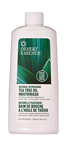 Natural Refreshing Tea Tree Oil Mouthwash - 8fl oz (Desert Care Toothpaste Dental Essence)