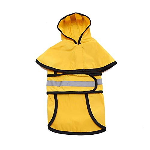 Fitfulvan Clearance! Pet Dog Hooded Raincoat Pet Puppy Jacket Outdoor Coat(Yellow,S) by Fitfulvan Pets (Image #4)