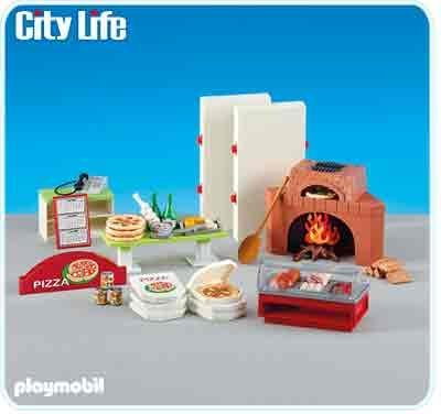 - PLAYMOBIL® City Life Pizzeria Add On Playset