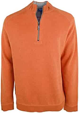 21da7a104f0e Tommy Bahama Men s Big and Tall Flip Side Classic Reversible Half-Zip  Sweater