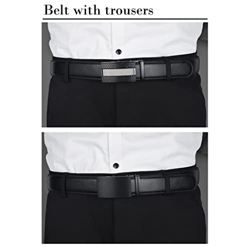 QISHIYUHUA Hombres Cinturón de Cuero Correa Cinturones de Piel Diseñado  para caballero Durable Modelando 9f8a6cd4cb01