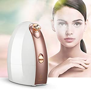 Lavany Facial Steamer Nano Ionic Hot & Cool Mist Moisturizing Face Steamer Sprayer with Aromatherapy Basket, 180 ML Water Tank