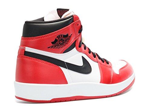 Nike Herren Air Jordan 1 High the Return Turnschuhe, Talla Rot / Schwarz / Weiß (Uni-Rot / Schwarz-Weiß)