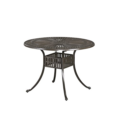 Home Styles 5561-30 Largo Outdoor Round Dining Table, 42″ Review