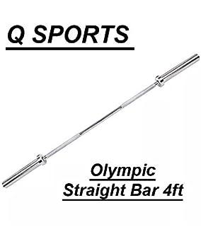 Q Sports - Barras de Levantamiento de Pesas para Pesas olímpicas de 5 cm para Levantamiento de Pesas y Culturismo Equipo para Gimnasio y Entrenamiento en ...