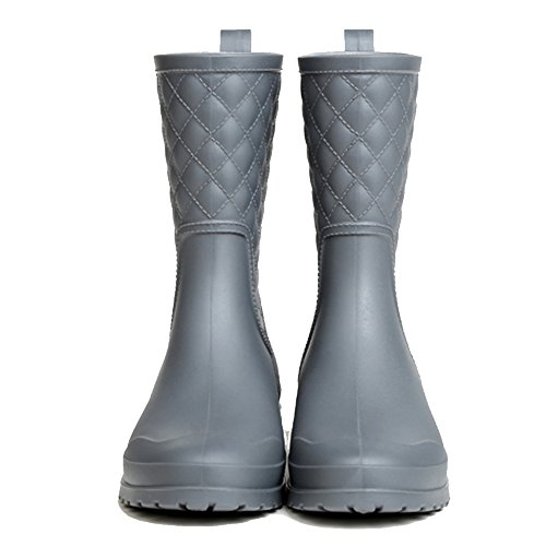 NAN Summer Rain Boots Women High Rain Boots Rubber Rain Boots Fashion Waterproof Rubber Boots (Color : 01, Size : EU35/UK3/CN34) 01