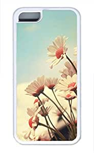 linfengliniPhone 5c case, Cute White Chrysanthemum iPhone 5c Cover, iPhone 5c Cases, Soft Whtie iPhone 5c Covers