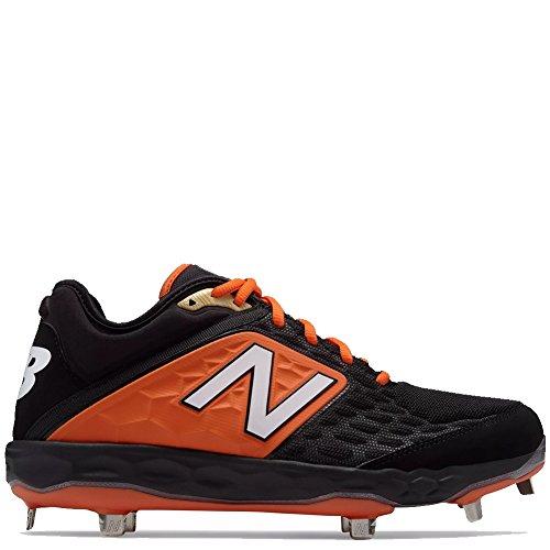 - New Balance Men's 3000v4 Baseball Shoe, Black/Orange, 10 D US