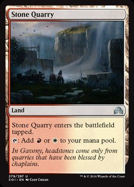 Quarry Stone (Magic: the Gathering - Stone Quarry - Shadows Over Innistrad)