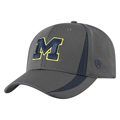 - Top of the World NCAA Michigan Wolverines Men's Performance Fitted Charcoal Triumph Icon Hat, Charcoal