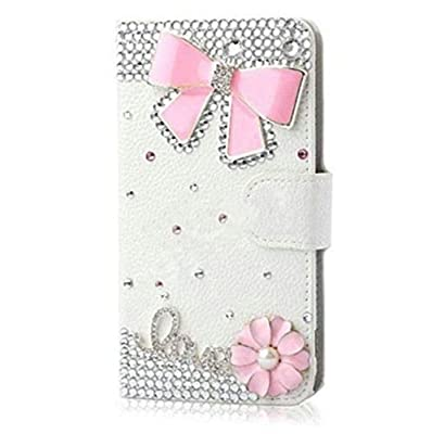 XDAYS(TM) Luxury 3D Bling Crystal Rhinestone Wallet Leather Purse Flip Card Pouch Cover Case For Smart Mobile Phones by XDAYS