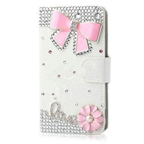Luxury Crystal Rhinestone Leather Alcatel