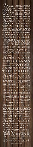 PotteLove Always Stay Humble and Kind Lyrics Tim McGraw Wood Sign Canvas Wall Art Dorm Decor New Baby Nursery Graduation Senior 2019