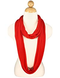 Elegant Solid Color & Striped Infinity Loop Jersey Scarf -Diff Colors