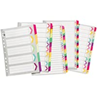 Marbig Dividers - Extra Wide Clear Reinforced A4