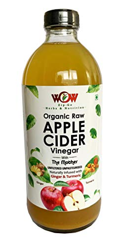 WOW ZIP – GO HERBS & NUTRITION Organic Apple Cider Vinegar Infused with Ginger & Turmeric (500 ml)