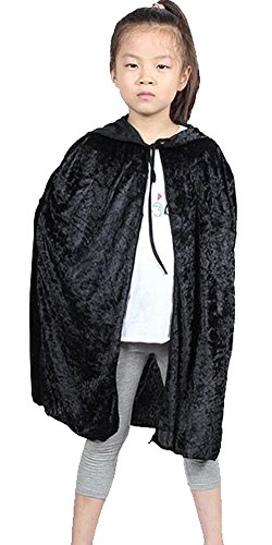 [Urban CoCo Kids Hooded Cloak Cape Role Play Costumes (black)] (Urban Vampire Costume)