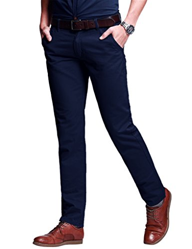 Fit Match - Match Men's Fit Tapered Stretchy Casual Pants (36W x 31L, 8103 Sapphire Blue)